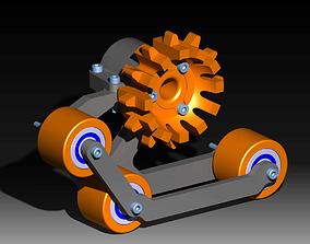 3D print model Snowboss track set for AXIAL CAPRA V2 AND