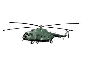 3D asset Mi-17 Helicopter