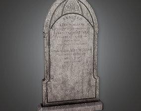 Grave Stone Cemetery 4 - CEM - PBR Game Ready 3D asset