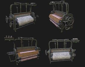 3D asset VR / AR ready Loom Machine WWII