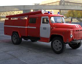 3D Firetruck GAZ-53