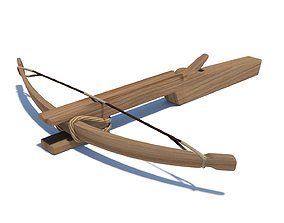 Early medieval 11th century light hunting crossbow 3D