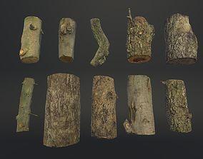 Firewood Logs 3D asset low-poly
