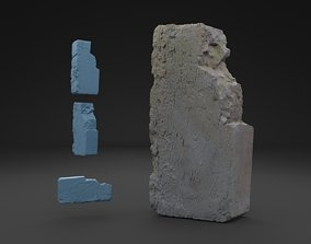 3D model Scanned Old Brick RAW SCAN