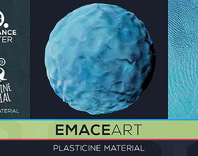 3D model PBR Plasticine Material 8 Substance Unity