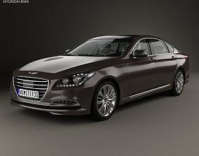 3D Hyundai Genesis DH with HQ interior 2014