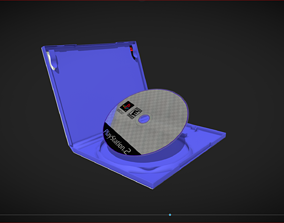 Low Poly Playstation 2 Gamebox Animated 3D model