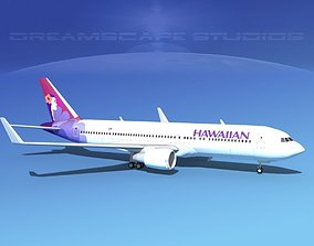 3D Boeing 767-300 Hawaiian