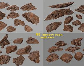 moss desert rock full set 3D