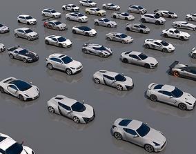 3D model 50 Vehicles Pack V2