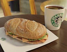 3D English sandwich in Starbucks