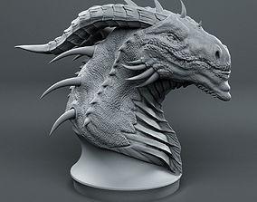 dragon 3D print model Dragon Head Sketch