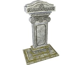 3D asset Tombstone - PBR Game Ready
