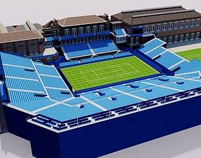 Queens Club Tennis Stadium - London 3D model
