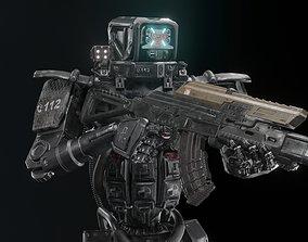 3D asset Cyborg Police Robot
