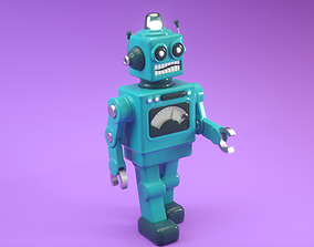 Vintage Toy Robot 3D model