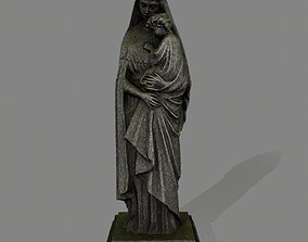 Woman Statue 3D model low-poly