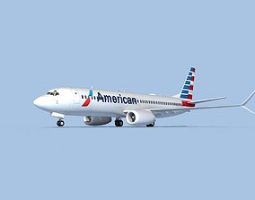 3D rigged Boeing 737-800 Max American Airlines