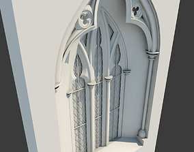 3D model Medieval Gothic Window 03