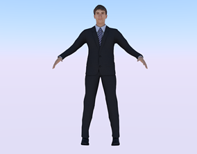 3D model rigged realtime Human