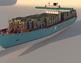 3D model Container Ship Emma Maersk