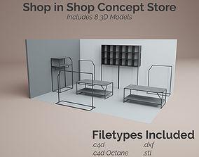 3D asset Shop in Shop Concept Store