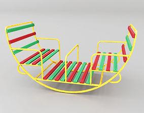 Childrens Swing Round 3D asset