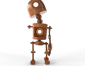 Wood Robot 3D asset