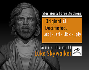 Mark Hamill - Luke Skywalker -old - 3D printable model 4