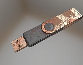 3D model USB Stick Low Poly Rusty Version 1 - Gameready 1
