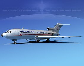 3D model Boeing 727-100 American Airlines 1