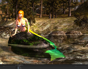 animated 3Dfoin - Mermaid