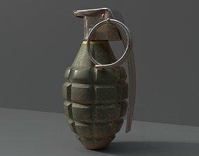 3D model VR / AR ready MK2 Grenade