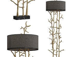 3D model Twiggy Floor Lamp by Pieter Adam