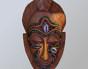 3D asset African Tribal Mask