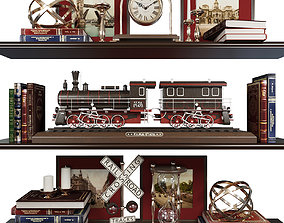 3D Decor set hourglass