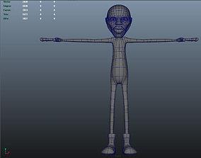 3D model Jimi Hendrix Cartoon