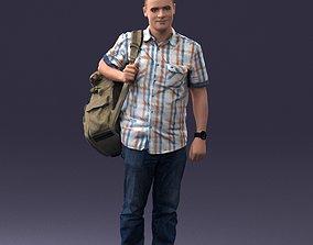 Man with bag 0824 3D model