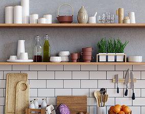 Scandinavian Kitchen Set 3D