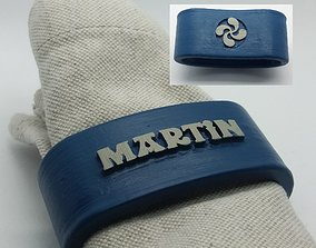 MARTIN Napkin Ring with lauburu 3D print model