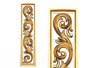 VR / AR ready 3D Carved Decorative Panel