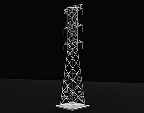 3D model Transmission Tower Power Tower