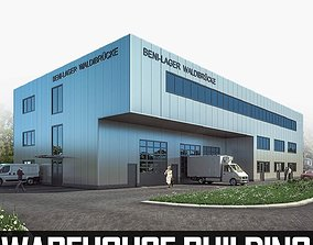 Warehouse Building 01 3D model game-ready