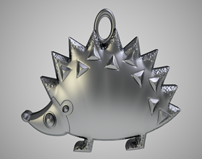 3D print model Hedgehog Keychain