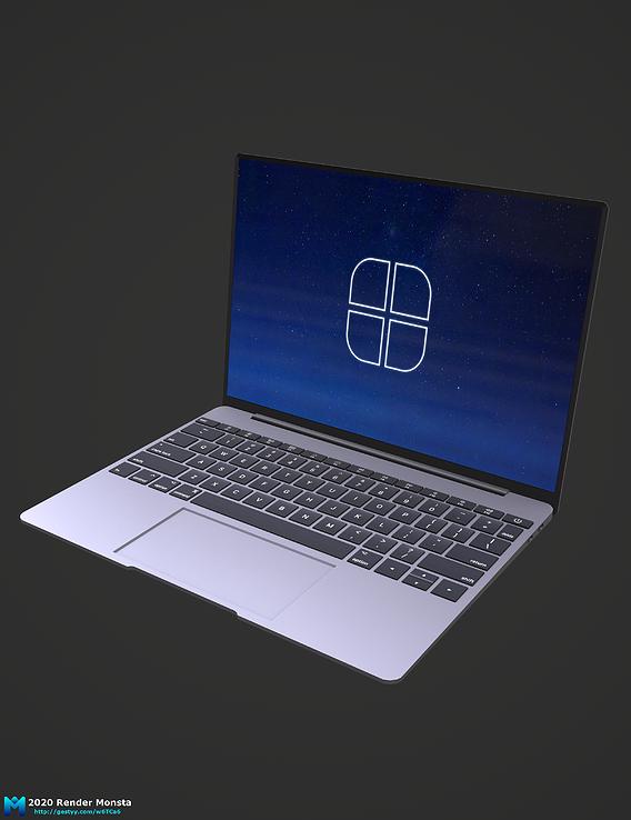 generic 2020 laptop pbr game asset wip