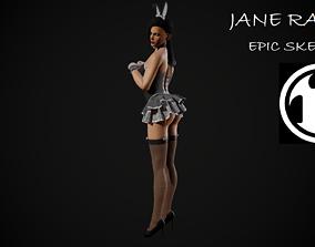 Jane Rabbit 3D asset