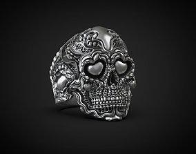 Biomechanical ring skull of love 3d model for 3d