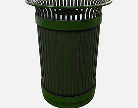 Low Poly PBR Rubbish Bin 3D model