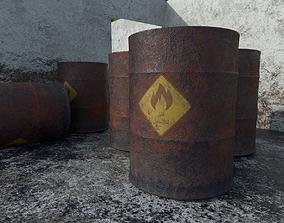 3D asset Arabic Old Oil Barrel