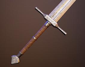 Medieval double-handed swords pack 3D asset